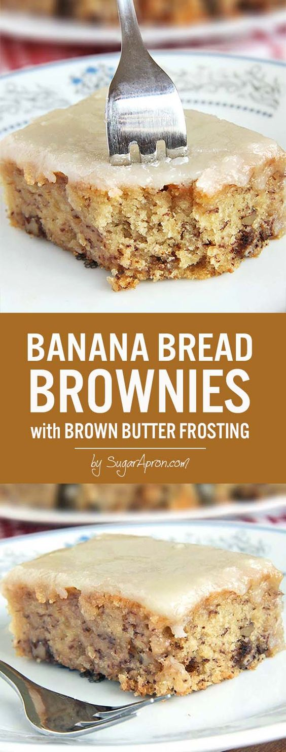 Banana Bread Brownies - Dessert Recipes