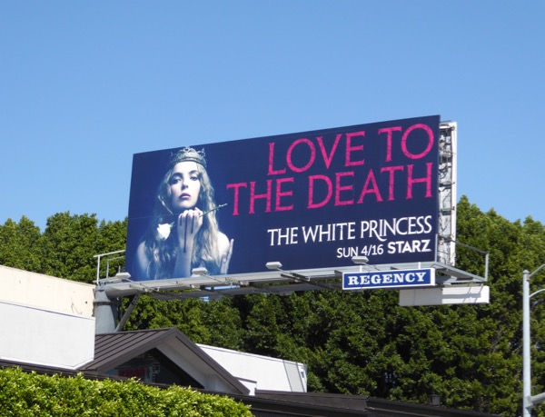 White Queen series premiere billboard