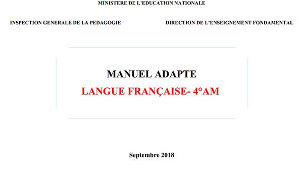 Manuel Adapte Francais 4am 2018 2019 Pdf