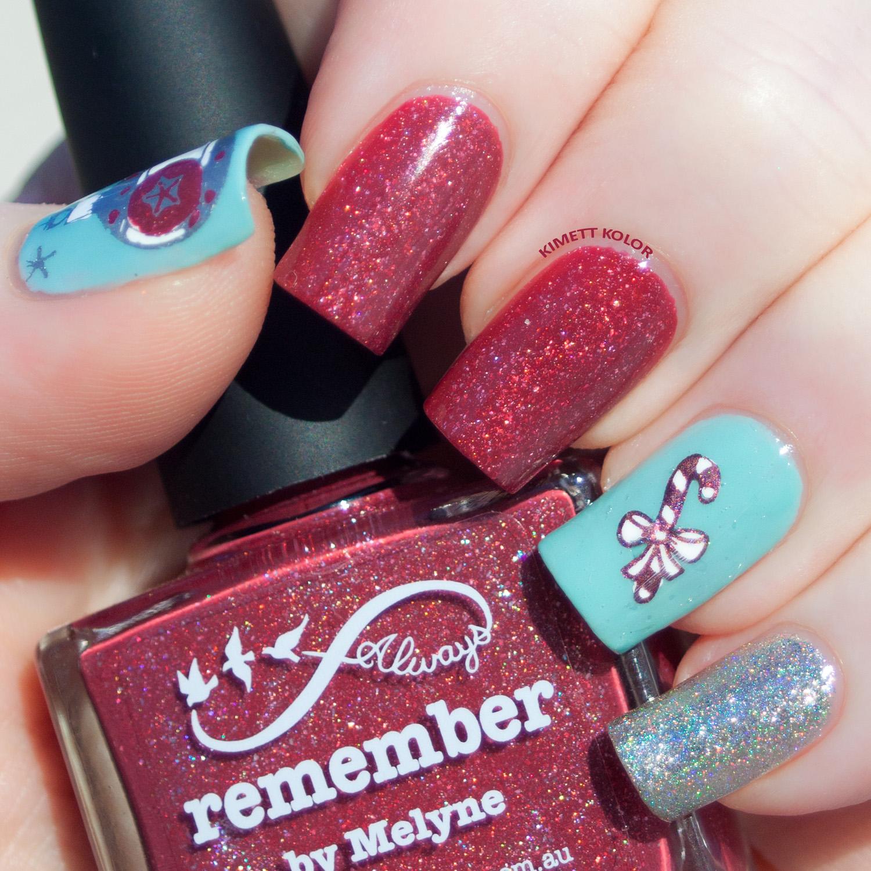 KimettKolor Vintage Christmas Nails