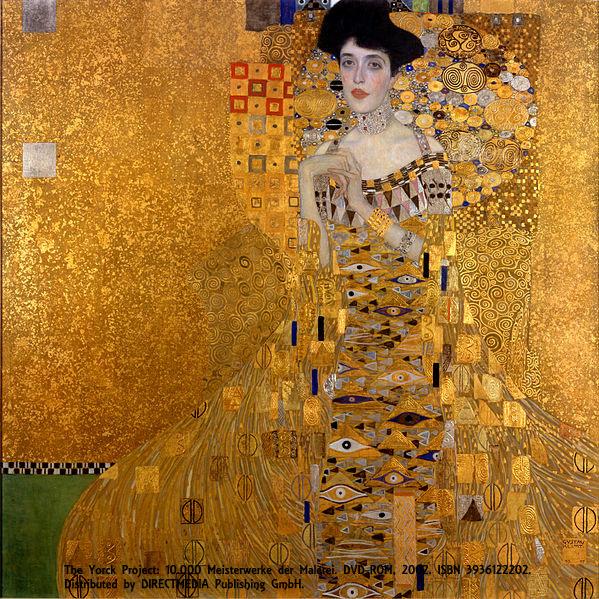 """Retrato de Adele Bloch-Bauer"", de Gustav Klimt, Neue Galerie, Nova York"