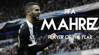 رياض محرز أفضل لاعب في الدوري الإنجليزي