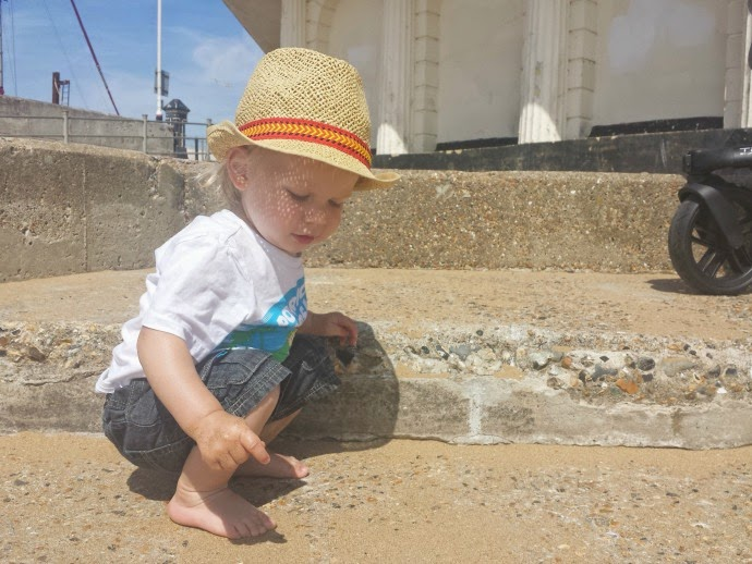 baby on the beach, ramsgate, toddler