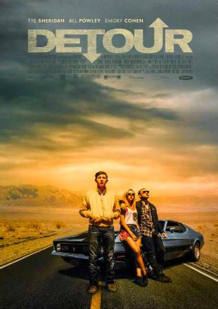 Poster of Detour 2016 Full Movie HDRip 480p English 300Mb ESub at worldfree4u