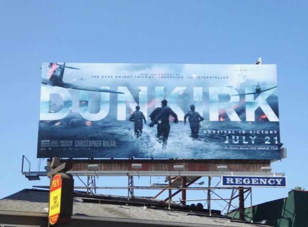 Dunkirk movie billboard