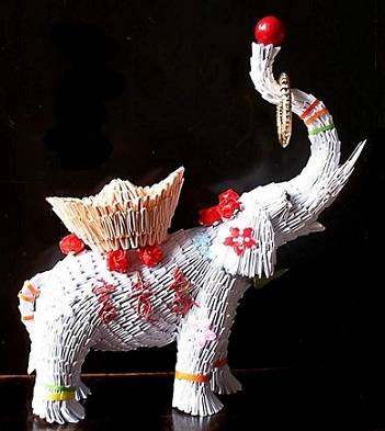What is origami 3D Origami Circus Elephant