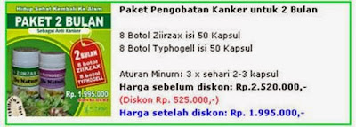 paket obat kanker 2 bulan 8 botol ziirzax ekstrak daun sirsak dan 8 botol typhogell ekstrak keladi tikus paket pengobatan kanker untuk satu minggu dari de nature indonesia