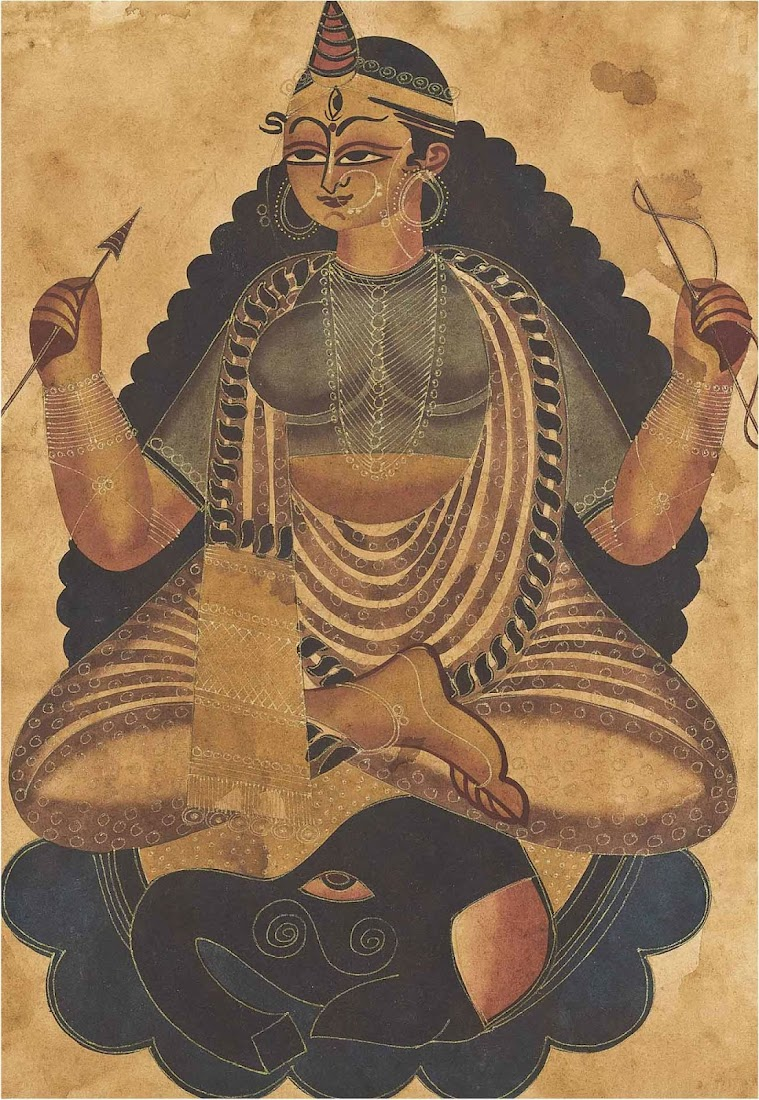 Kalighat Paintings - Late 19th or Early 20th Century, Bengal, India