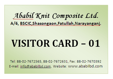 visitor id card sample for bngladesh garments compliance solution desk
