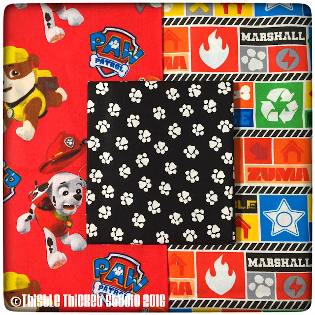 Paw Patrol fabric, Thistle Thicket Studio, quilts, quilting