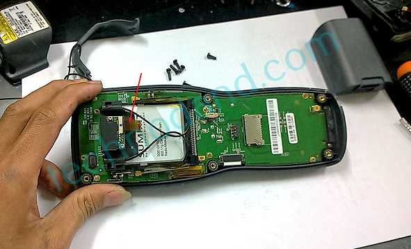 scanner LXE MX 8  tidak bisa scan