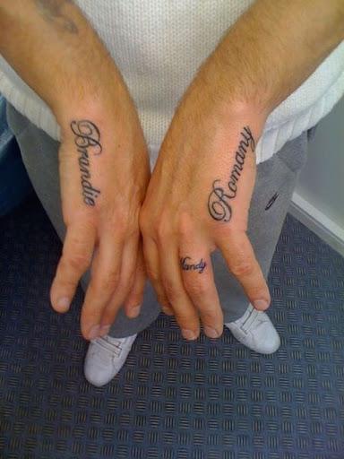 Criancas e esposa de nome de tatuagens