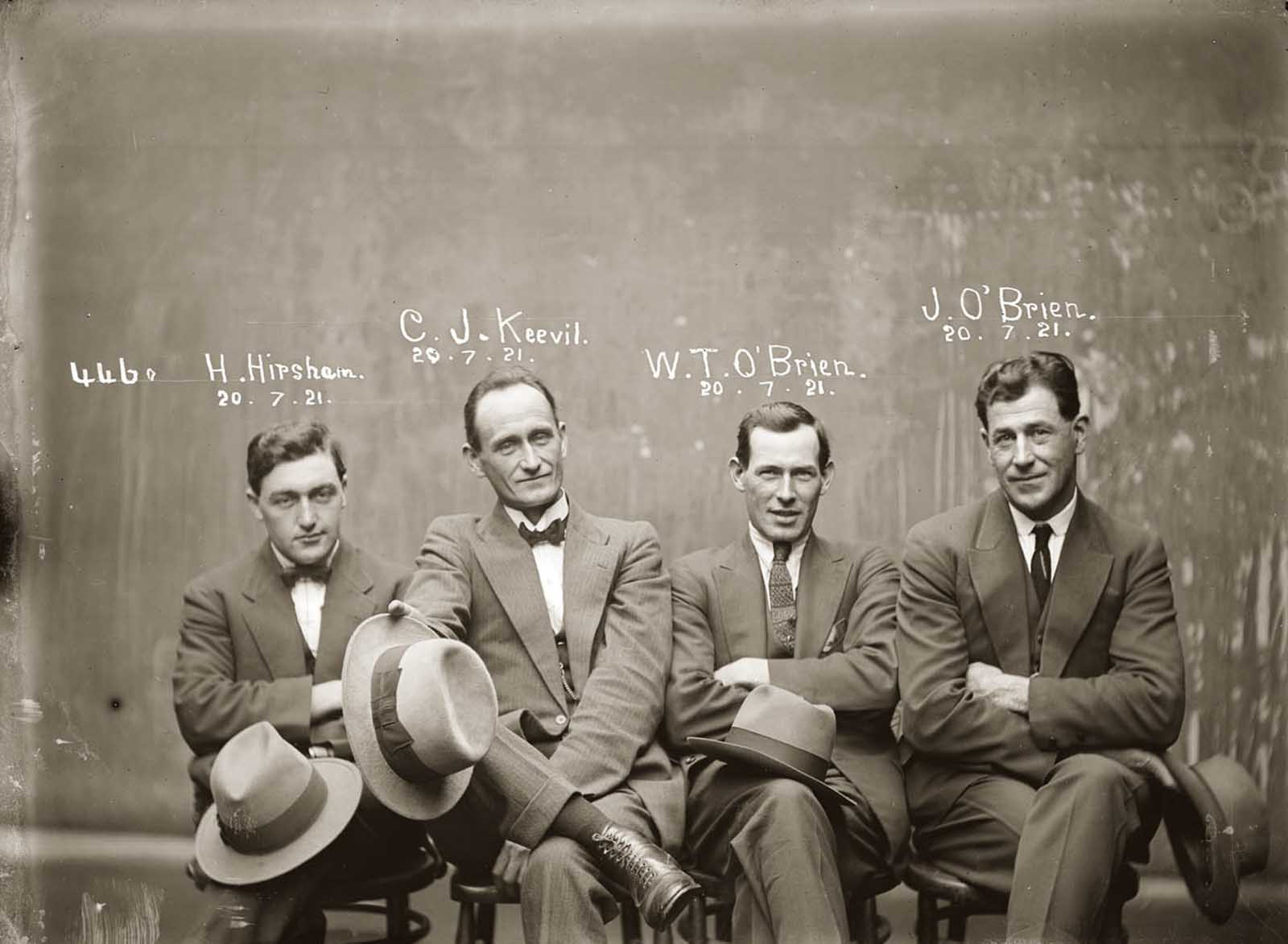 Hampton Hirscham, Cornellius Joseph Keevil, William Thomas O'Brien & James O'Brien. 1921.