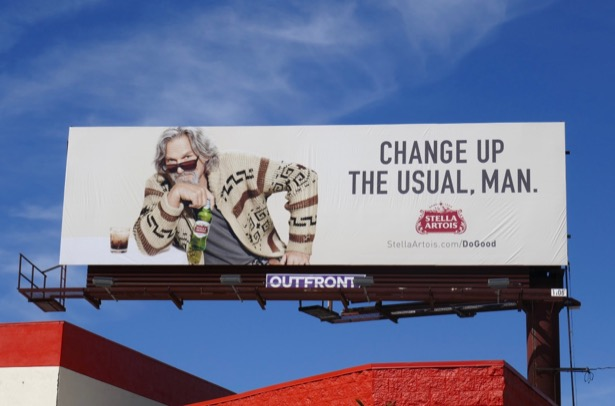 Eclectic lifestyle billboards filling L A 's March 2019