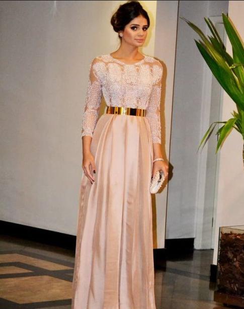 Model Kebaya Gaun Pesta Lengan Panjang Terbaru