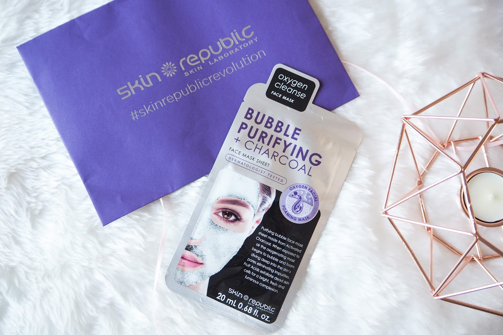 Skin Republic Bubble Purifyng and Charcoal Sheet Face Mask Review