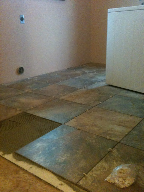 MagPie Approved: Tiling the Laundy Room; Laying the tile