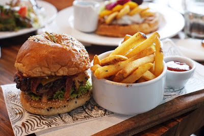 Abaca Baking's Luncheonette Burger