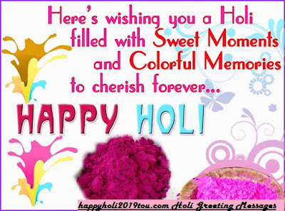 Happy Holi 2019 wishes messages