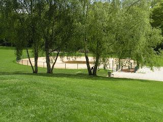 La pataugeoire du parc de Bréquigny à Rennes