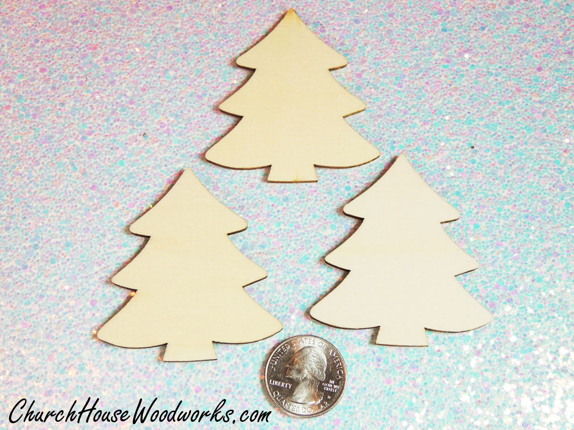 wooden christmas tree ornaments miniatures diy christmas village supplies accessories to paint on diy - Wooden Christmas Ornaments To Paint