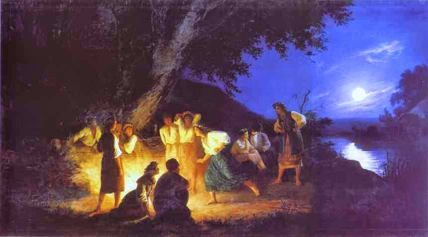 Noite na Véspera de Ivan Kupala - Henryk Siemiradzki e suas pinturas ~ Polonês