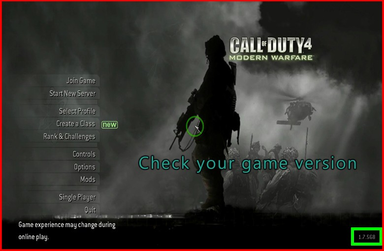 call of duty 4 multiplayer download 1.7