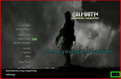 Check your COD 4 MW version