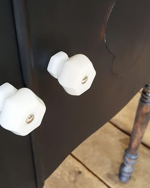 white milk glass knobs