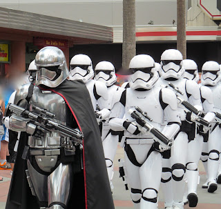 stormtroopers marching by scary but cool