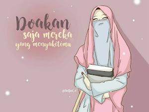 Gambar Kata Kartun Muslimah Bercadar Lucu Cantik Romantis Hijrah Lengkap