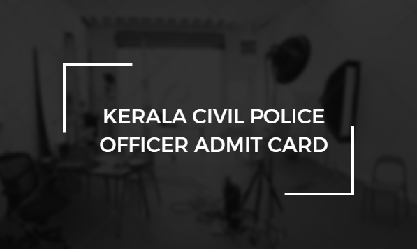 KPSC Civil Police Officer Admit Card 2018