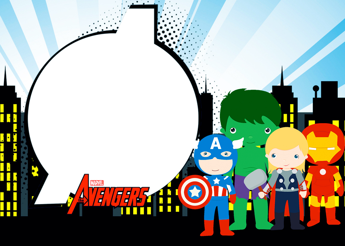 Avengers Chibi Style Free Printable Invitations Labels Or Cards