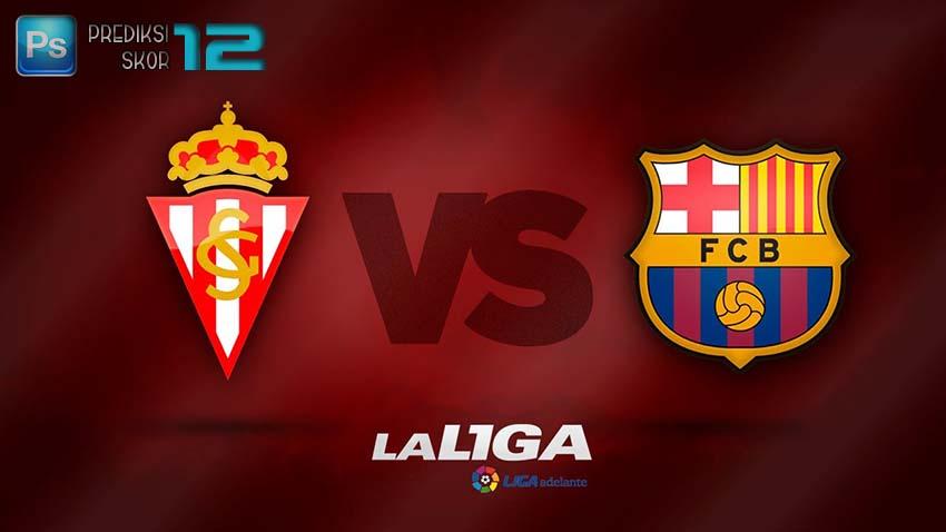Prediksi skor Sporting Gijón vs Barcelona 24 September 2016