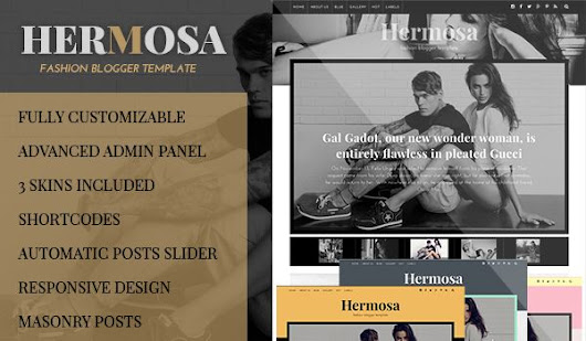 Hermosa Responsive Fashion Blogger Template         -          Premium Blogger Templates | Templateify