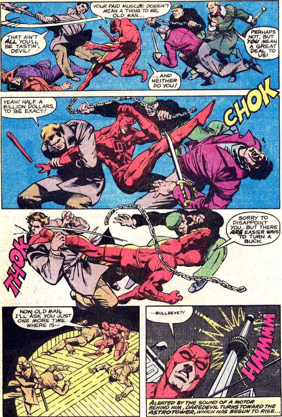 Daredevil v1 #161 marvel comic book page art by Frank Miller