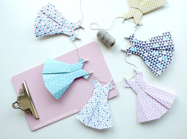 Falten Statt Nähen Kleidchen Aus Papier Schoenstebastelzeit