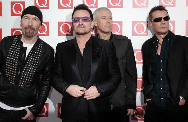 U2 en los Q Awards 2011 en Londres