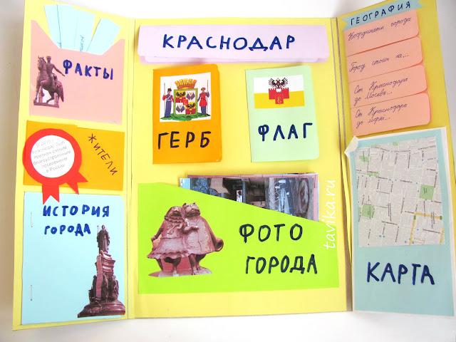 """Лэпбук для проекта """"Города России"""""""