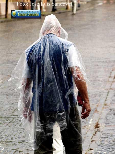 La Agencia Estatal de Meteorología informa en un aviso especial sobre  la lluvia y el viento en Canarias, 23 febrero / Fotógrafo: José Luis Sandoval