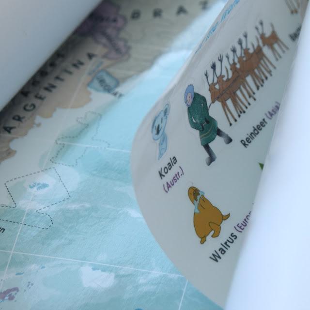kids room decor maps art learning educational