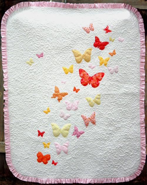 Butterflies a Flutter Baby Quilt - Free Pattern
