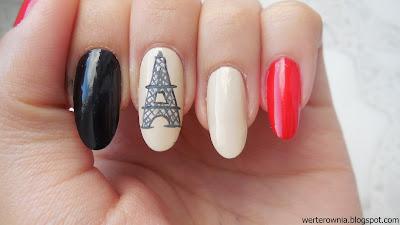 Wieża Eiffla zdobienie paznokci
