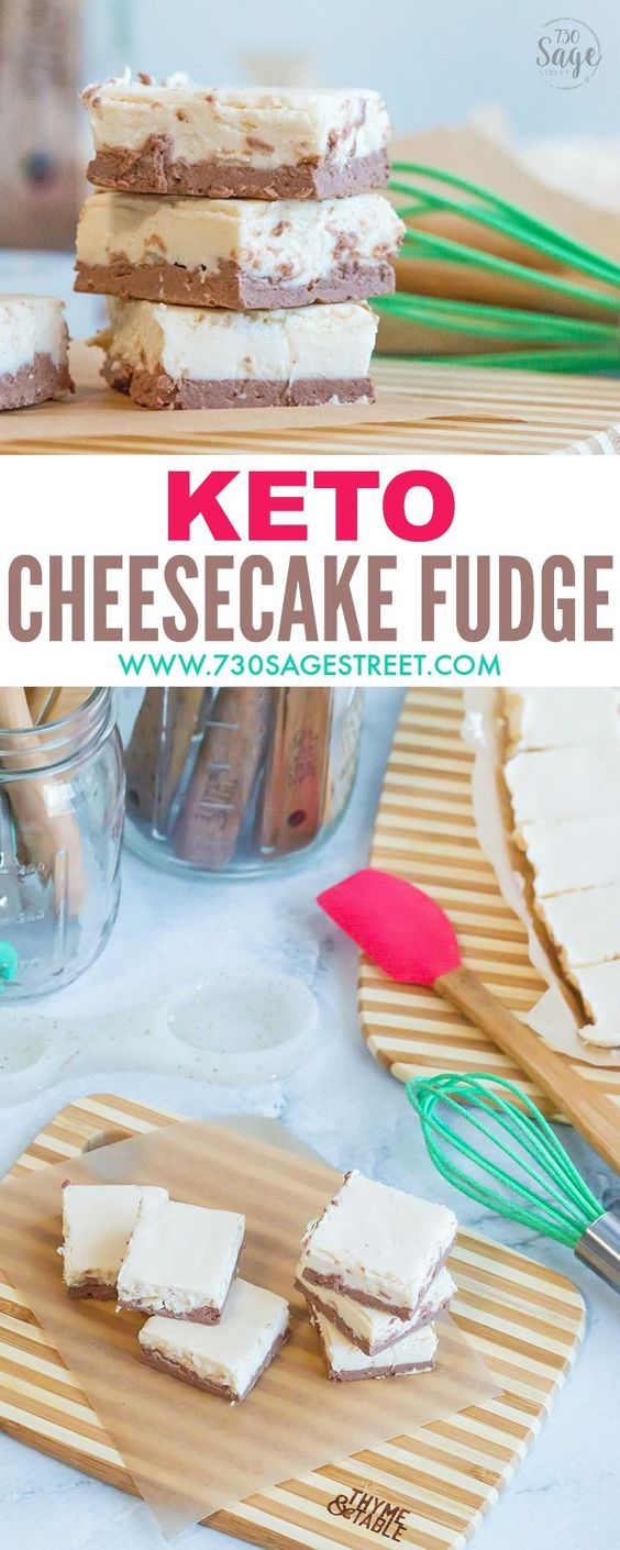 Keto Mocha Cheesecake Fudge