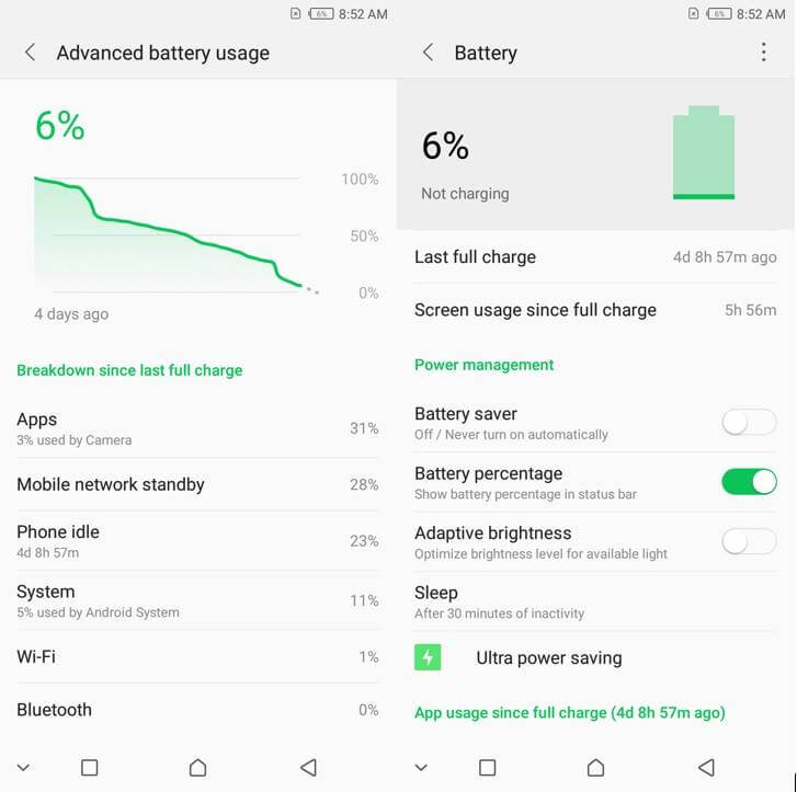 Infinix Hot S3 Battery Stats