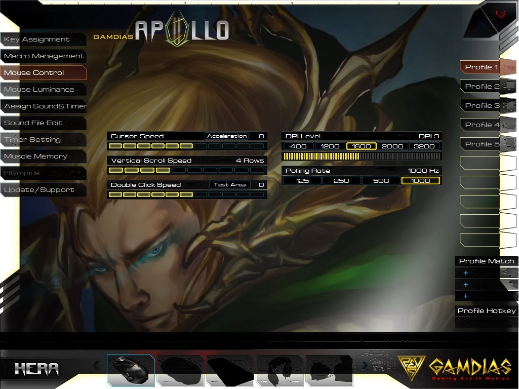 Gamdias Apollo Extension Optical Gaming Mouse 70