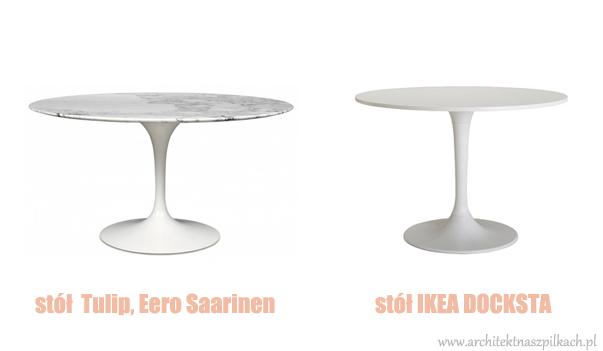 meble inspirowane, Ikea, tulip chair, docksta, oryginał, podróbka