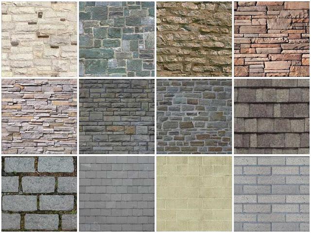 Stone Elevation Texture : Sketchup texture stone walls masonry