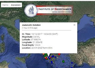 Δίδυμος σεισμός στην Ηλεία