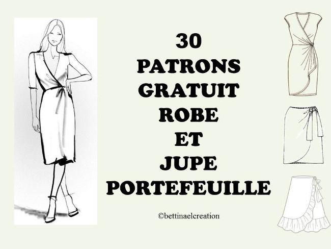32ce7dec29f5ce COUDRE UNE JUPE OU ROBE PORTEFEUILLE AVEC 30 PATRONS GRATUITS ...